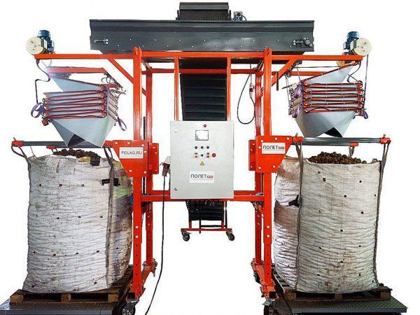 Оборудование для закладки на хранение картофеляНаполнитель контейнеров и биг-бегов НКБ-2